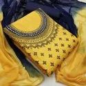 Heavy Cotton Ladies Wear Embroidery Work Suit