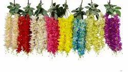 Long Straight Design Multicolor Flowers Hanging- Decorative Flower Hanging, For Wedding-Party-Events, Size: 24 Inch Height