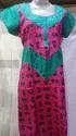 Full Length Cotton Ladies Designer Nighty, Xl, Xxl