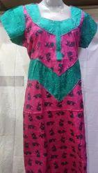 Full Length Cotton Ladies Designer Nighty, XL,XXL