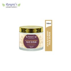 Rangrej''s Aromatherapy Acai Black Berry Face Scrub for Radiant Glowing Skin 100ml