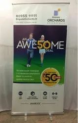 Roll Up Banner Standee, For Advertising, Size: 2x4 Feet