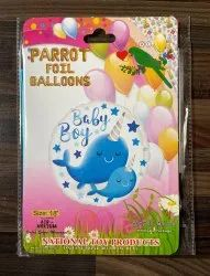 18 Baby Boy Themed Foil Balloons