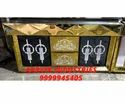 Black Golden Stainless Steel Bar LED Catering Counter