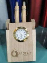 Analog Wooden Printed Watch