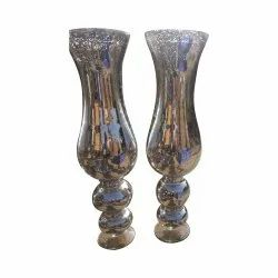 Curved Ball Glass Vase