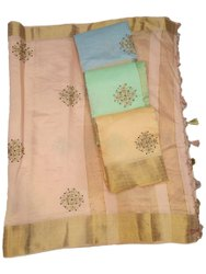 Mohini Fashion Wedding Wear Ladies Pink Silk Saree, 6.3 m (with blouse piece)