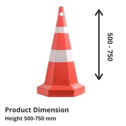 Conical PVC Road Safety Plastic Parking Cone