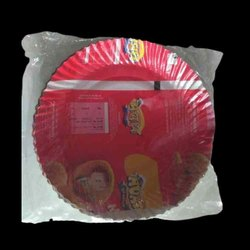 Plain Round Disposable Color Paper Plate, For Event, Size: 7 Inch
