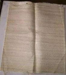 Brown Plain Tassar Eri Gheecha Pure Silk Natural Fabric