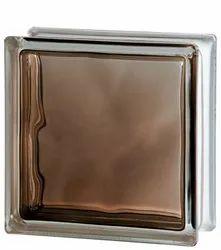 Brilly Bronze Wave Glass Brick
