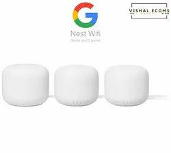 Google Nest Wifi - 4X4 Ac2200 Wi-Fi Mesh System (1 Router And 2 Point) With 6600 Sq Ft Coverage