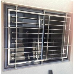Silver Polished Stainless Steel Window, For Residential