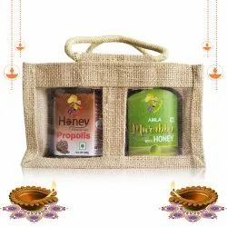 Gift Pack Honey Enriched With Propolis, 500 G & Amla Murabba With Honey, 500 G