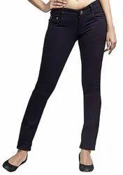 Button Ladies Black Skinny Jeans
