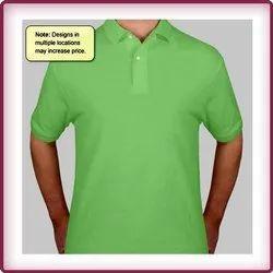 Mens Contrast Pique Polo Shirt