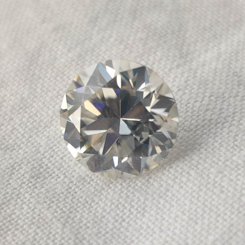 Colorless Round Cut Loose Moissanite For Jewelry
