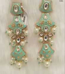Kundan Meenakari Earrings
