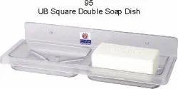 UNBREACKABLE DOUBLE SQUARE SOAP DISH