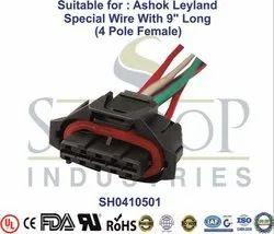 Automotive Parts Of Head Lamp Sensor Connectors Special Wire With 9