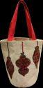 Round Jute Christmas Gift Bag