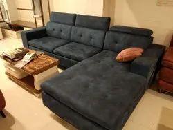 Designo Interior Modern Velvet Sofa Set Cum Bed