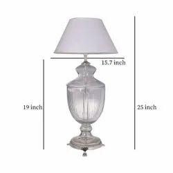 Vintage Look LED SCH Trophy Shape Bed Side Table Lamp, For Home