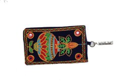 Cotton Ladies Embroidered Clutch Wallet