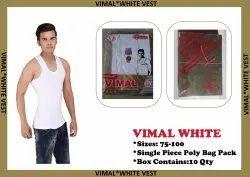Lucky 7 Men Vimal White Vest