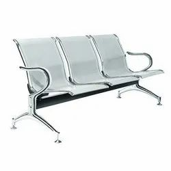 3 Seater SS Waiting Chair