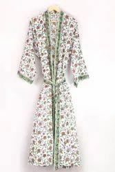 Cotton Printed Ladies Designer Kimono Robe, Size: Free