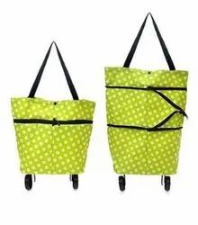 Printed ASSORTED Foldable trolley shopping bags. Travel shopping bags, Capacity: 15-20 Kg, Size: 15*17*6