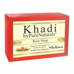 byPureNaturals Khadi Rose Soap, 125gm