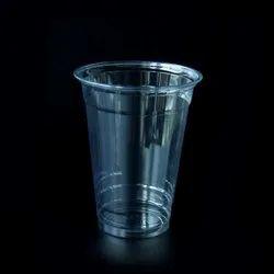 10 Cm Plain Transparent Plastic Glass