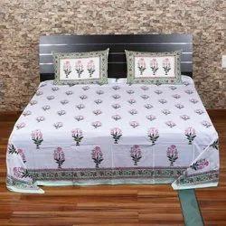 Sanganeri Printed Bed Sheets