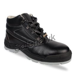 ISO Black Safehawk Rover Steel Toe Safety Shoe, For Industrial