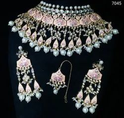 Fashion Meenakari Pearl Necklace Set