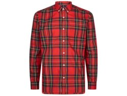 Cotton Red Mens Checked Shirts