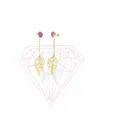 Antique Lavender Gemstone Gold Plated Hoop Earrings For Women