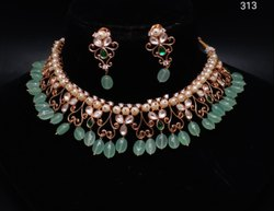 AD Bridal With Pearl Necklace Set