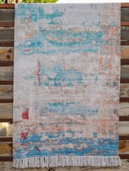 Multicolor Modern Digital Printed Cotton Rugs, Size: 4x6 Feet