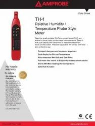 Amprobe TH-1,  Compact Probe Style Relative Humidity Meter