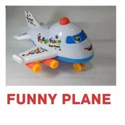 White and Blue Funny Plane