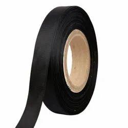 Gross Grain - Black Ribbons 25mm/1''inch Gross Grain Ribbon 20mtr Length