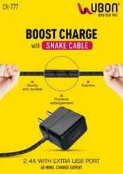 Ubon CH-777 2.4A Wall Charger with Micro-USB Cable