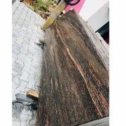 Polished Aqua Brown Granite Slab, Countertops, Thickness: 18 mm