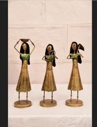 Golden Iron Lady Workers Table Decor Set, For Decoration