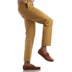 Finnoy Men Cotton Beige Color Trouser