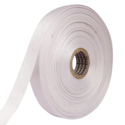 Double Satin NR - Silver Ribbons 25mm/1Inch 20mtr Length