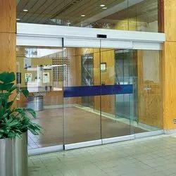 Sliding Plain Automatic Glass Doors, For Office